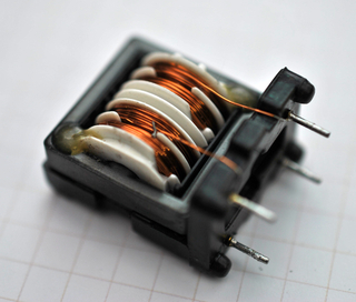 Photo of a transformer for switching power supply